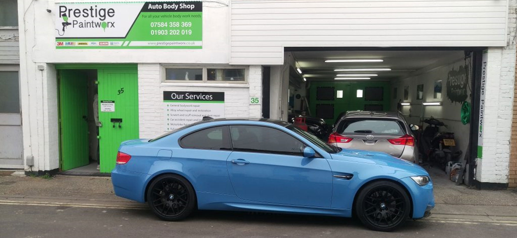 Blue-BMW-Side